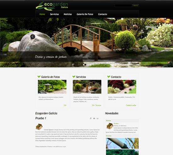 Dise o web para jardiner a y agricultura for Jardineria barata barcelona