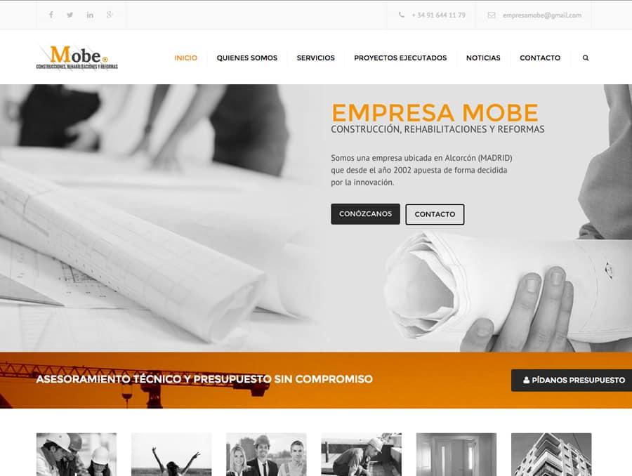 P ginas web para constructoras y arquitectos for Empresas de construccion en vigo