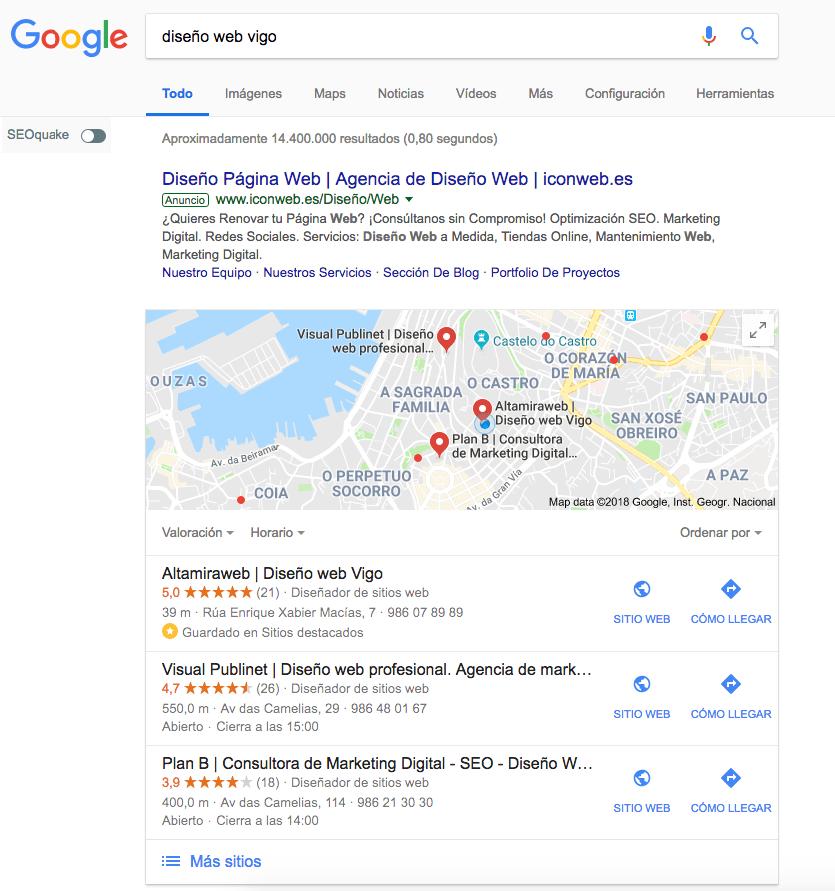 alta en google place