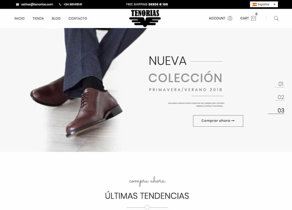 51beae20f Ejemplos de nuestros trabajos en páginas web de moda