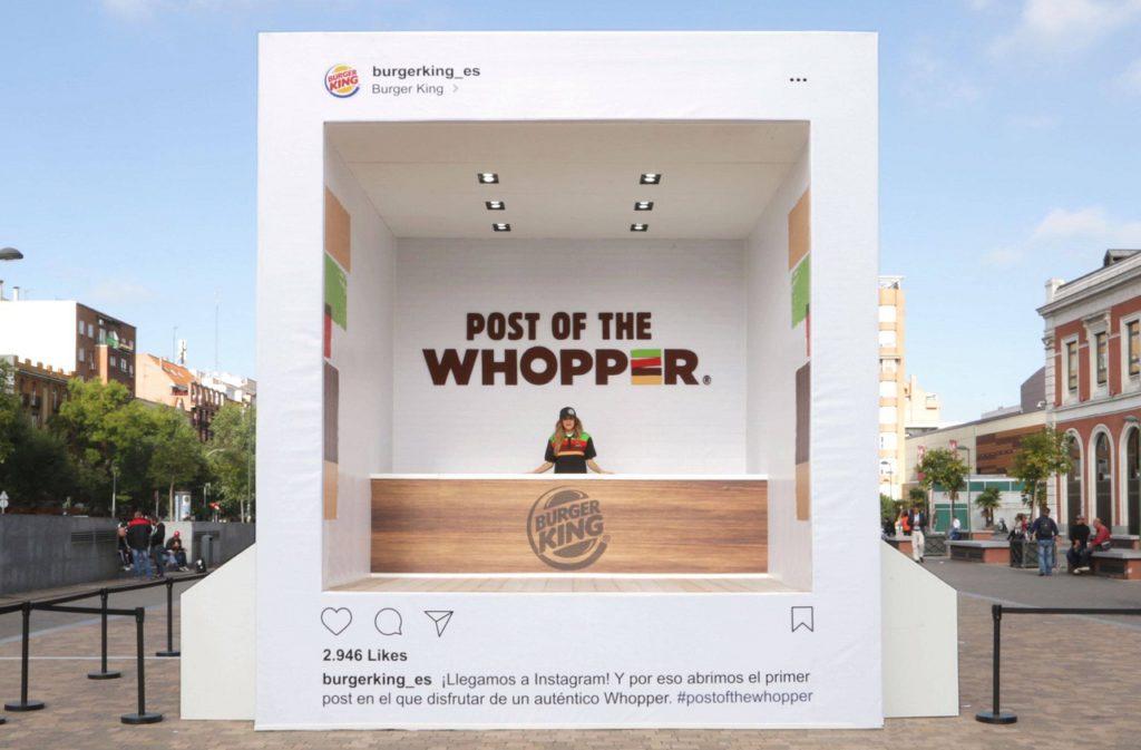 como usar instagram para empresas burger king