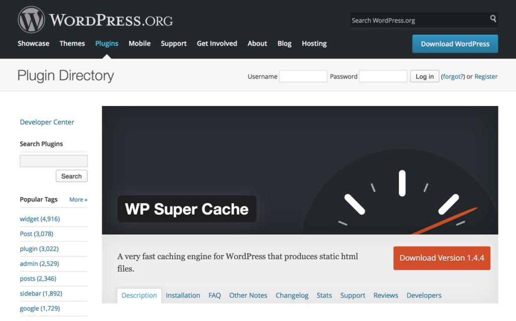 plugin-para-mejorar-la-velocidad-en-wordpress-wp-supercache