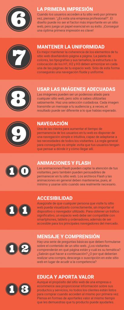 infografía del artículo 25 prácticas indispensables en desarrollo web para conseguir leads y ventas, parte 2