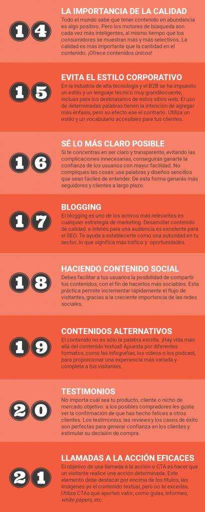 infografía del artículo 25 prácticas indispensables en desarrollo web para conseguir leads y ventas, parte 3