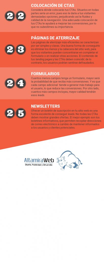 infografía del artículo 25 prácticas indispensables en desarrollo web para conseguir leads y ventas, parte 4