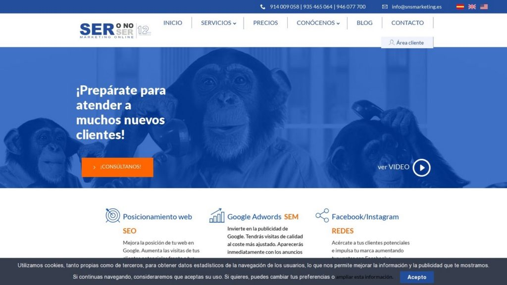 agencias SEO de España-Agencia Ser o No Ser