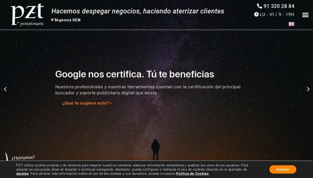 agencias SEO de España-PZT by Posizionarte