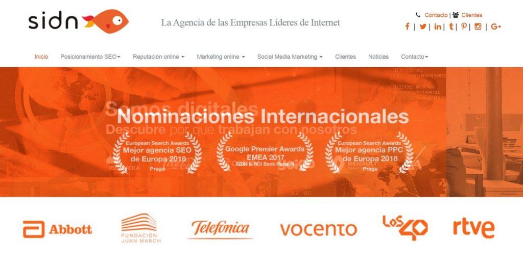 agencias SEO de España-sidn