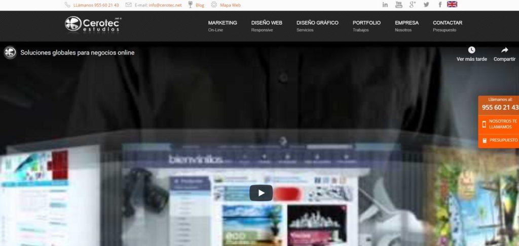 las mejores agencias de diseño web de España-Cerotec