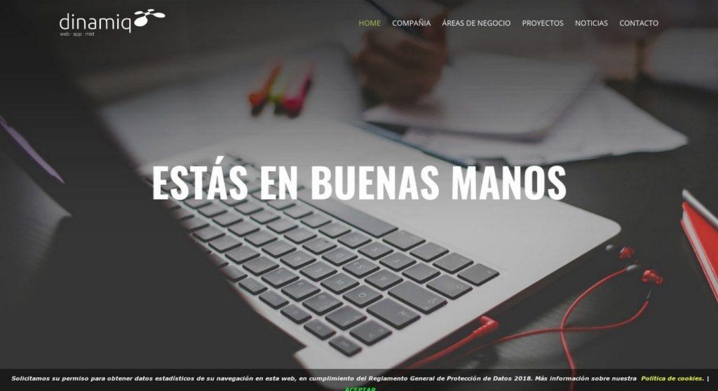 las mejores agencias de diseño web de España-Dinamiq