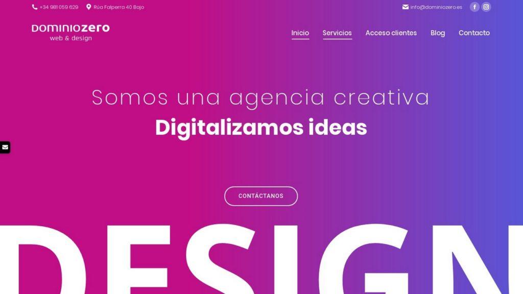 las mejores agencias de diseño web de España-dominiozero