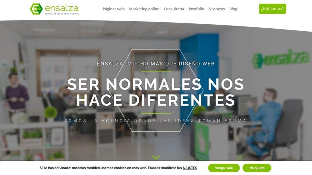 las mejores agencias de diseño web de España-ensalza