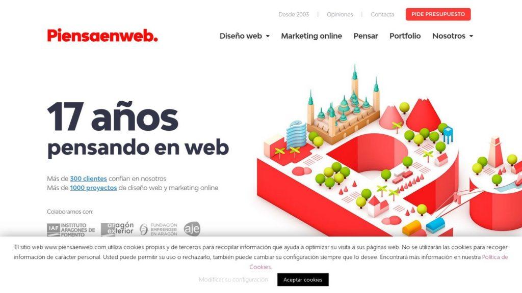 las mejores agencias de diseño web de España-piensa en web