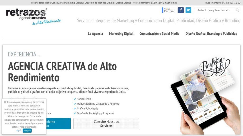 las mejores agencias de diseño web de España-retrazos