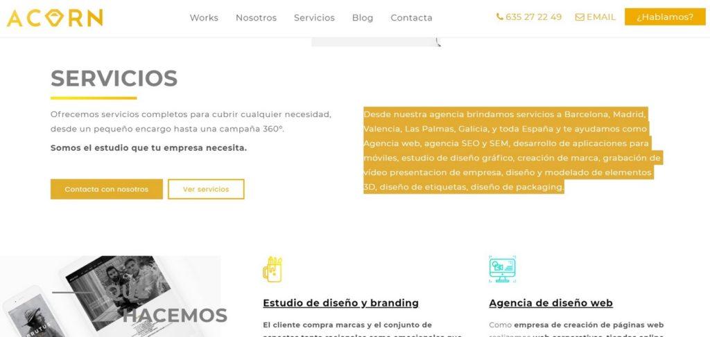 las mejores agencias de diseño web de España-somoswaka-acorn