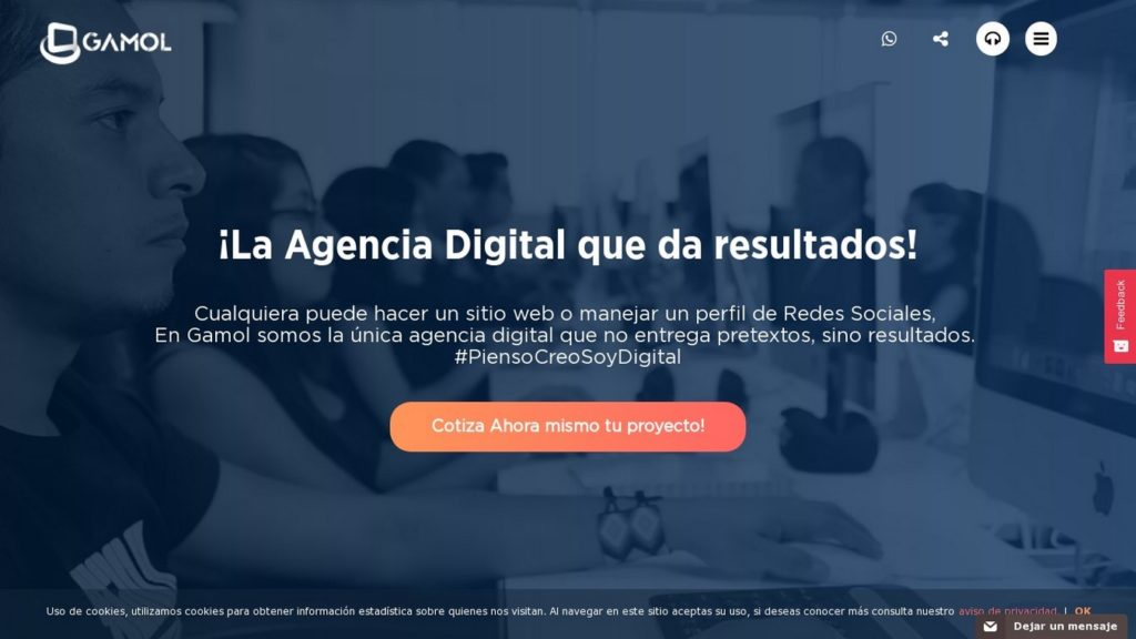 agencias de diseño web de México-gamol