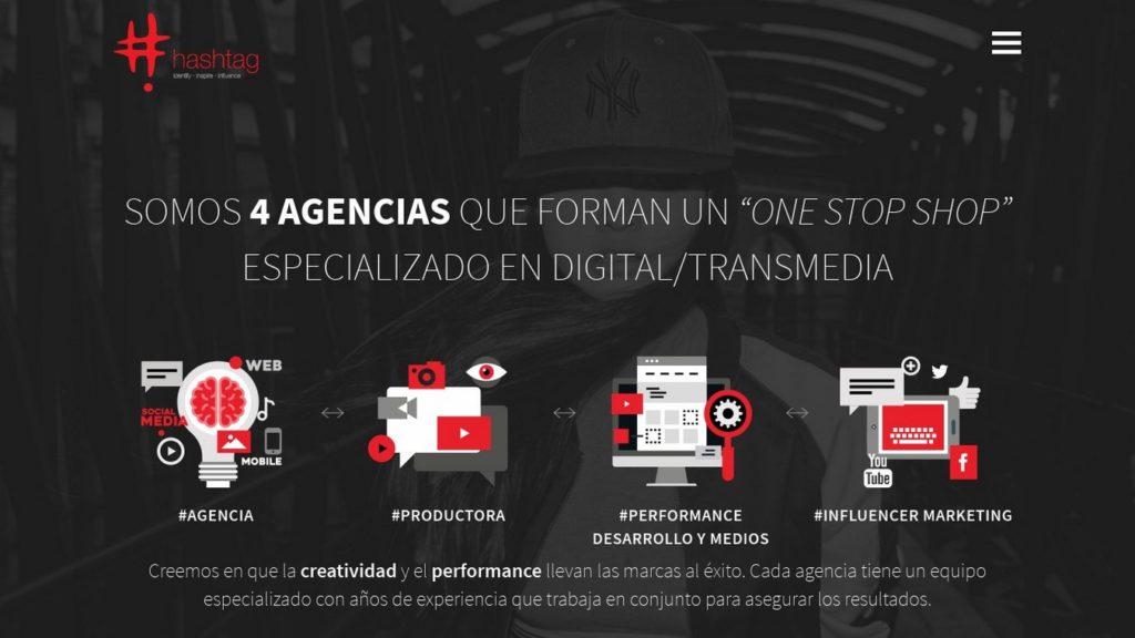 agencias de diseño web de México-hashtag