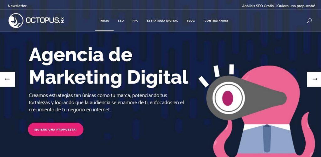 las mejores agencias SEO de México-octopus