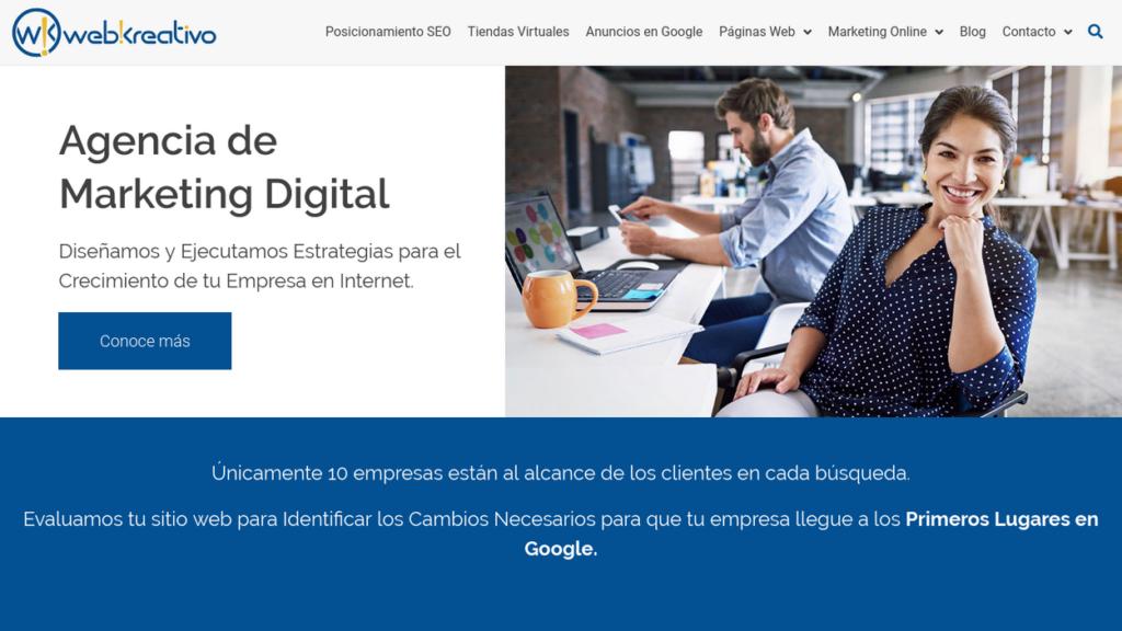 las mejores agencias SEO de Colombia-webkreativo