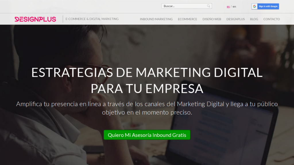 las mejores agencias de diseño web de Colombia-designplus