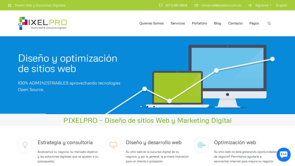 las mejores agencias de diseño web de Colombia-pixelpro