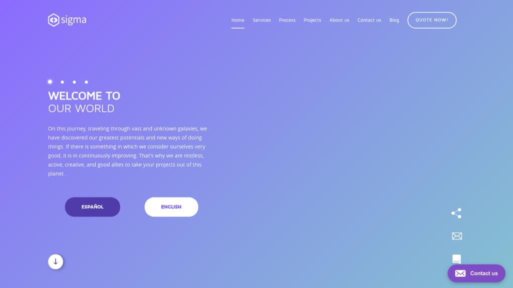 las mejores agencias de diseño web de Colombia-sigma