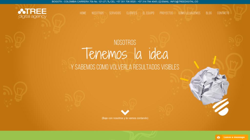 las mejores agencias de diseño web de Colombia-treedigital