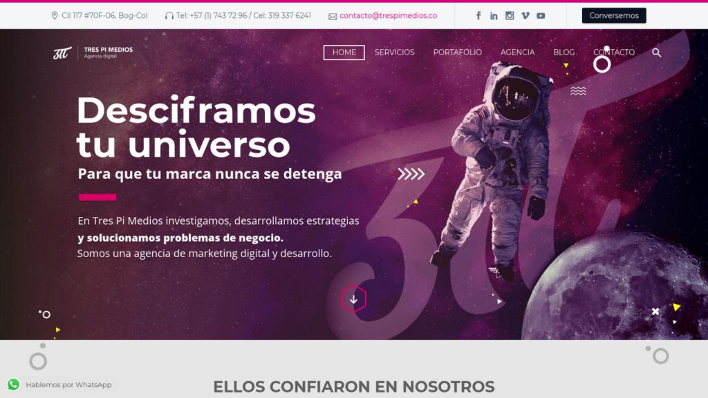 las mejores agencias de diseño web de Colombia-trespimedios