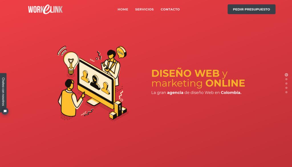 las mejores agencias de diseño web de Colombia-workelink