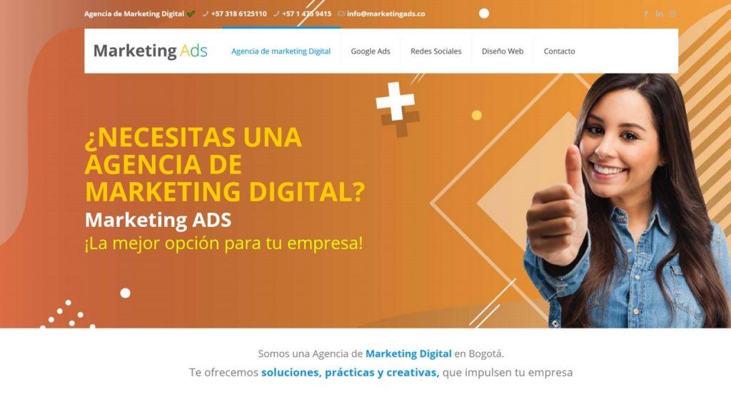 las mejores agencias de marketing online de Colombia-Marketing Ads