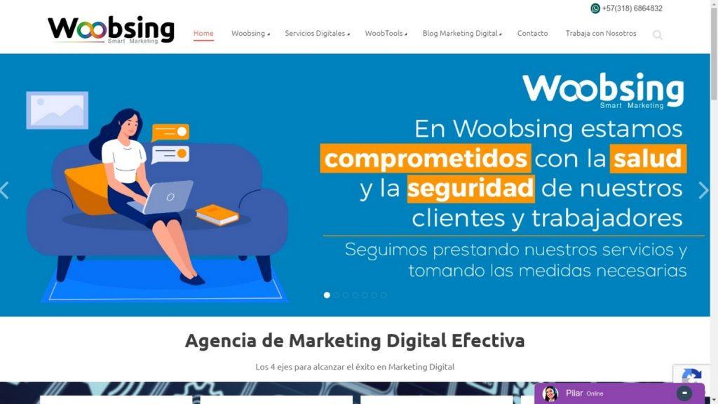 las mejores agencias de marketing online de Colombia-woobsing