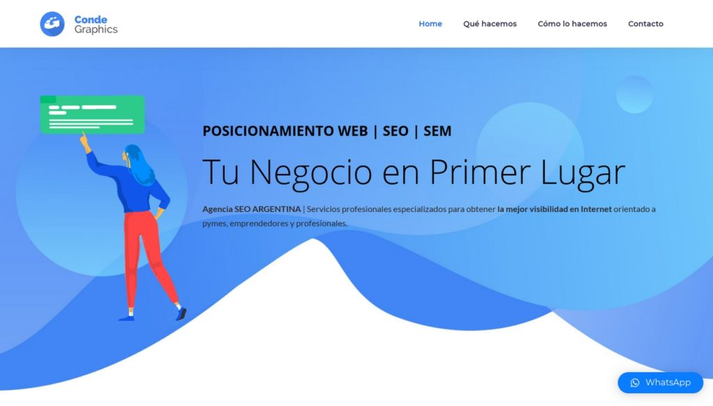 mejores agencias de posicionamiento SEO en Argentina-Conde Graphics