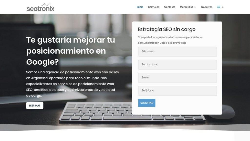 mejores agencias de posicionamiento SEO en Argentina-Seotronix