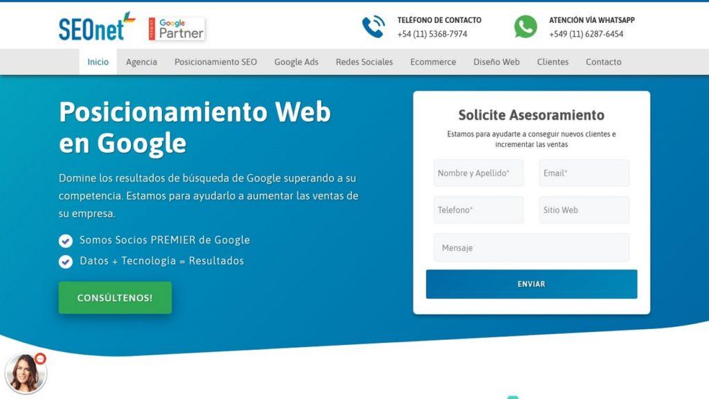 mejores agencias de posicionamiento SEO en Argentina-seonet