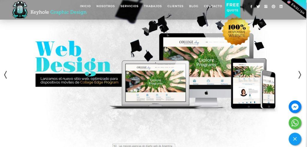 las mejores agencias de diseño web de Argentina-Keyhole Graphic Design