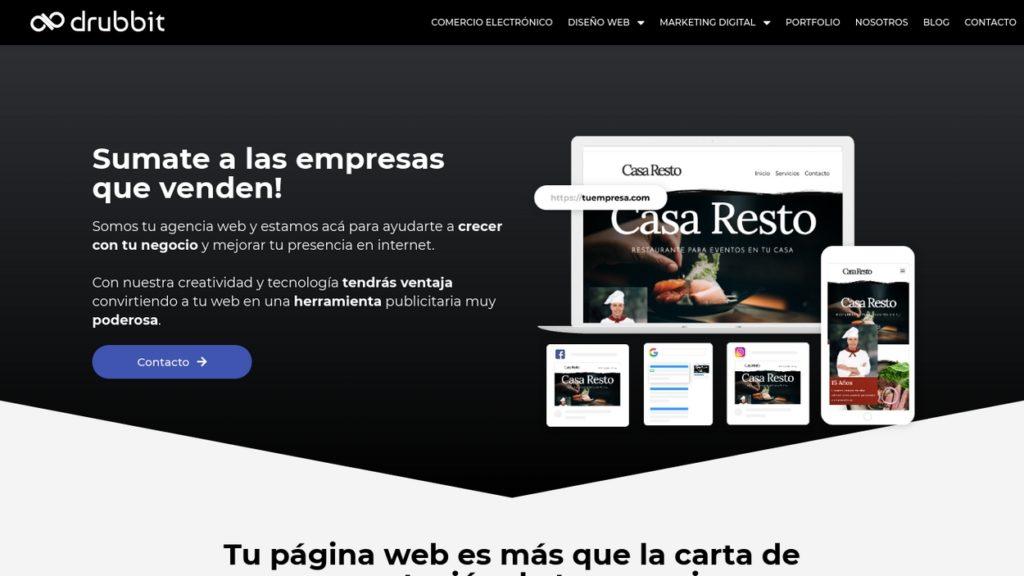 las mejores agencias de diseño web de Argentina-drubbit