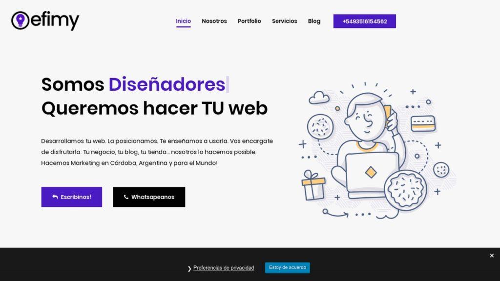las mejores agencias de diseño web de Argentina-efimy