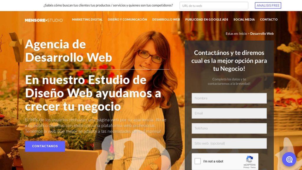 las mejores agencias de diseño web de Argentina-mensorestudio