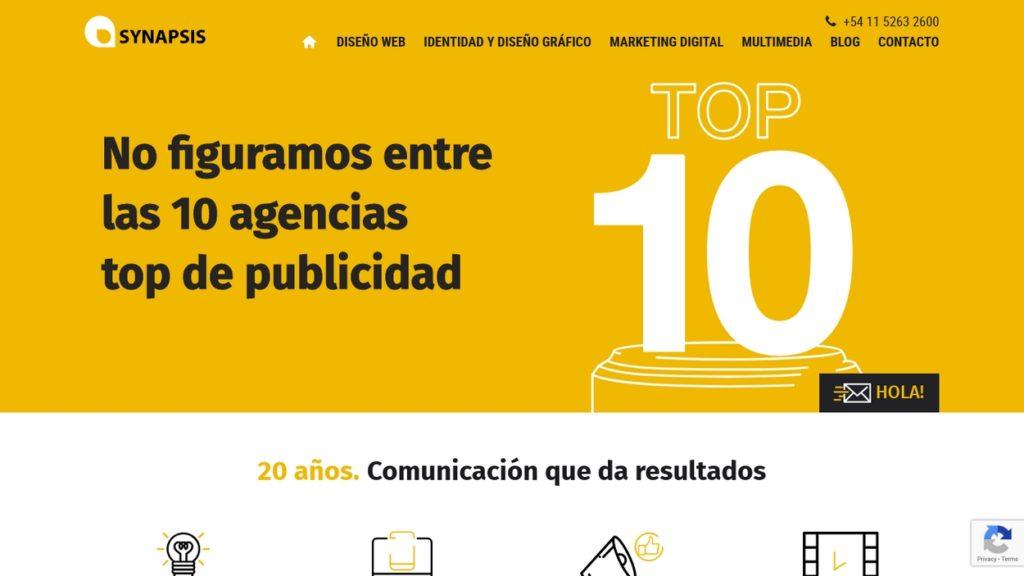 las mejores agencias de diseño web de Argentina-synapsis