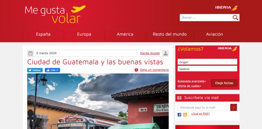 marketing magnético ejemplo iberia