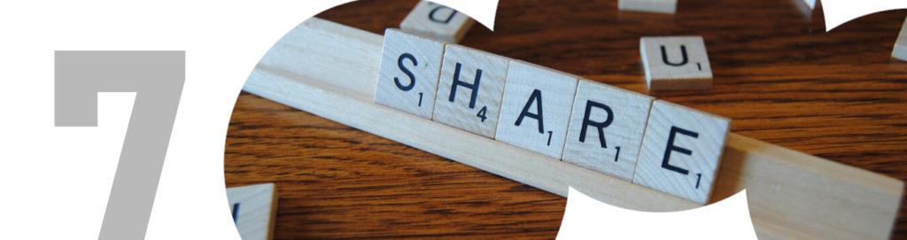 SEO en artículo de blog compartir
