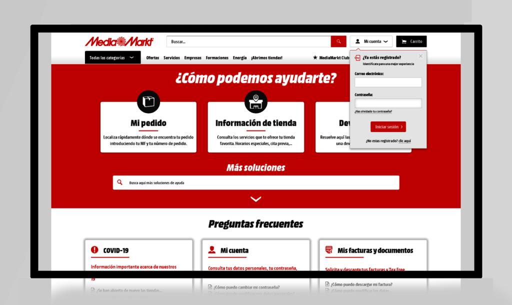 ejemplos de páginas FAQ mediamarkt