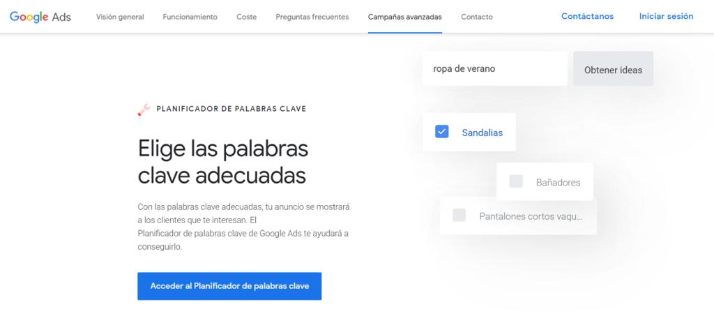 cómo buscar palabras más buscadas en Google trends keyword tool