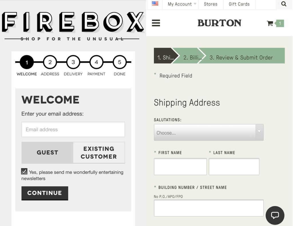 checkout de tienda online ejemplo