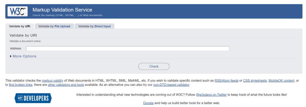 estándares W3C validador online