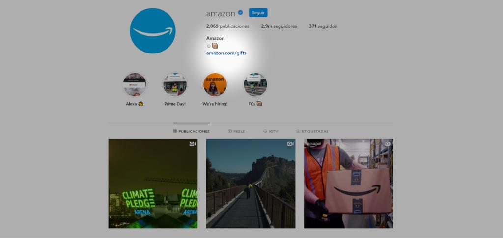 métricas de Instagram clics en enlace