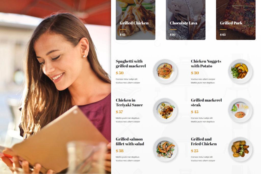SEO para restaurantes-menu