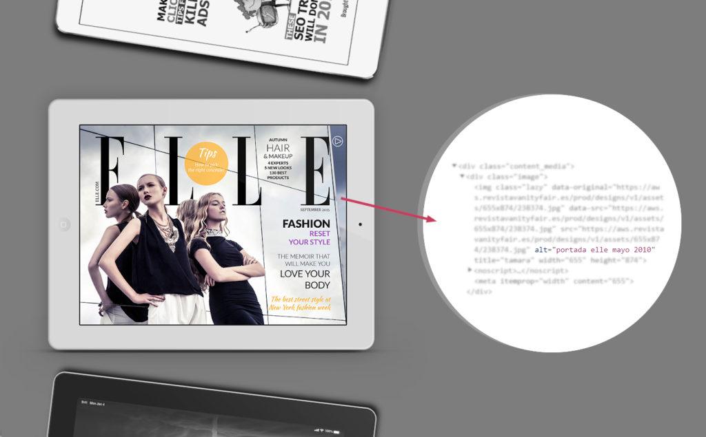 ejemplo de atributo ALT de imagen de tablet