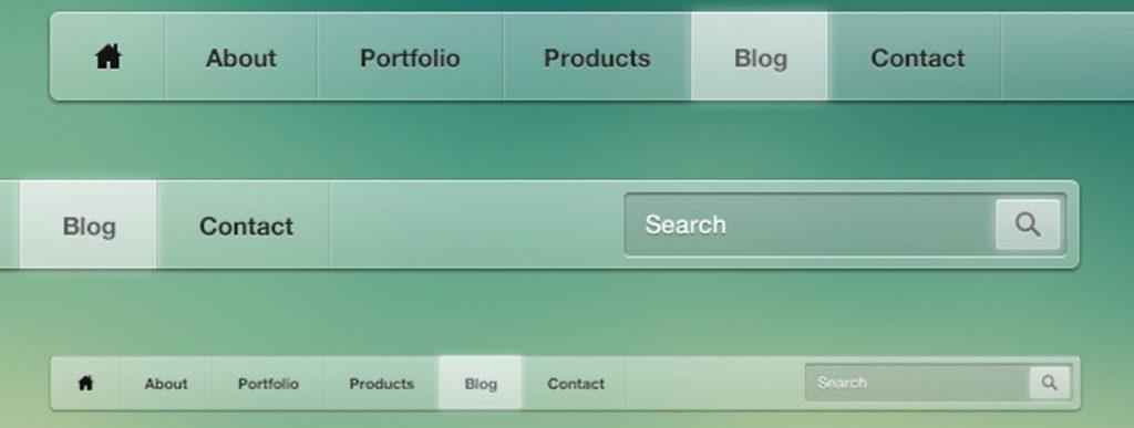 como estructurar una página web corporativa menu