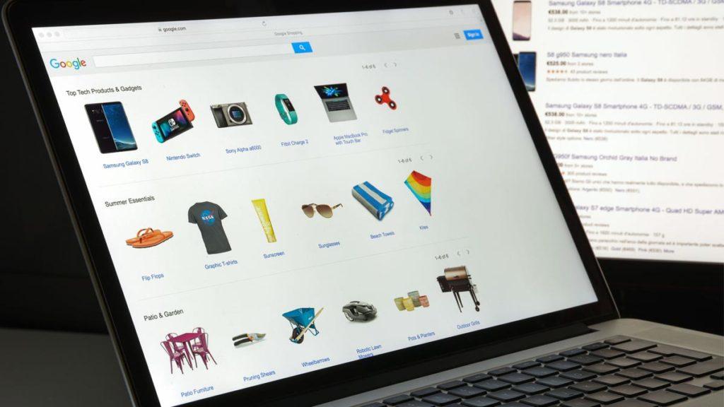 cómo aparecer en Google Shopping pantalla